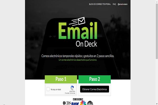 Email OnDeck Borrar correo temporal