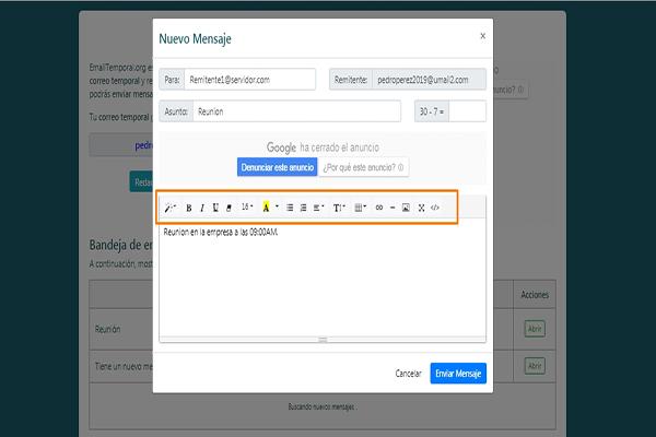 como usar nuestro correo temporal