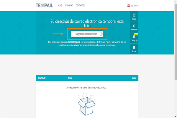 email temporal